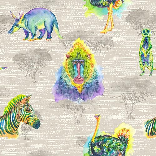 Long Sleeve Jessica Dress - Watercolour Wilderness