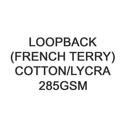 1-10 metres 285gsm Cotton Lycra Loopback (French Terry) 93/7