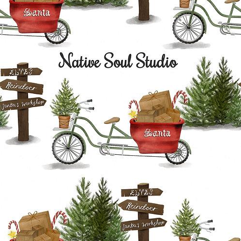 Santa's Bicycle - Christmas