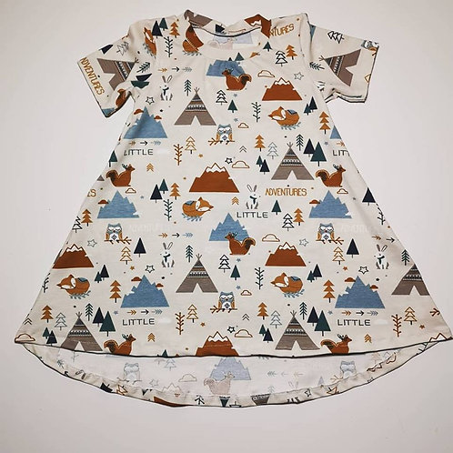 Short Sleeved Jessica Dress (Not Exclusive Or Colour Changing)