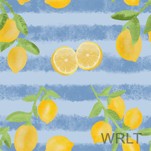 Leggings - Stripey Lemons