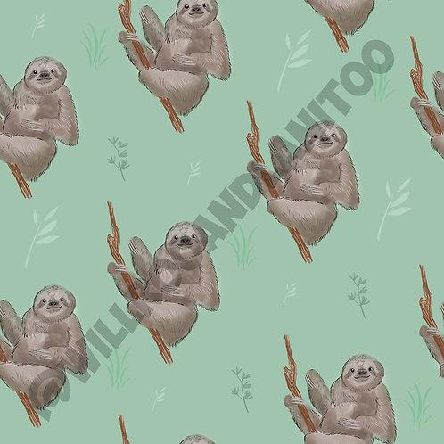 Seth Sloths Green Short Dungarees