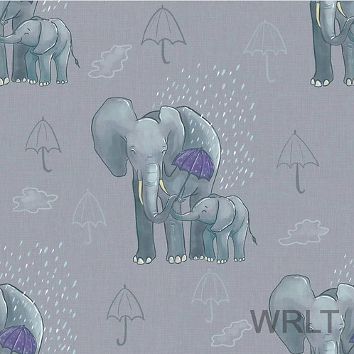 Long Leg Romper - Elephants In The Rain