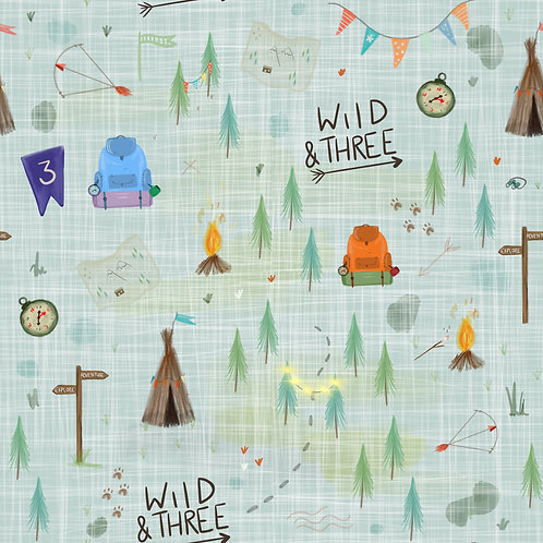 Adult Snoogle - Wild And Three Birthday Print