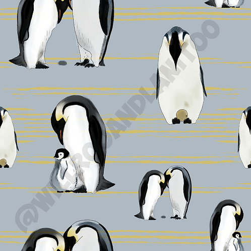 Bummies - Penguin Perfection - Grey