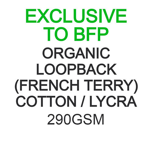 Test Swatch 290gsm Organic Cotton Lycra Loopback (French Terry) 93/7