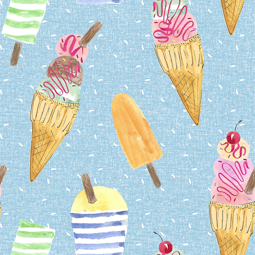 Full Skirt Dress With Sleeve Variations - Ice Cream