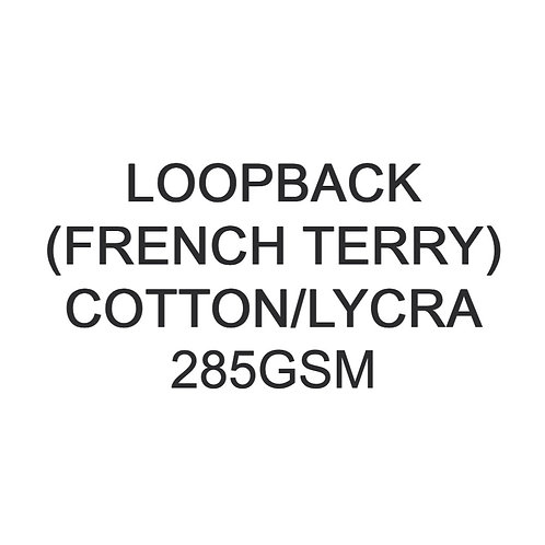 Test Swatch 285gsm Cotton Lycra Loopback (French Terry) 93/7