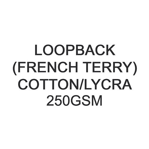 Test Swatch 250gsm Cotton Lycra Loopback (French Terry) 96/4