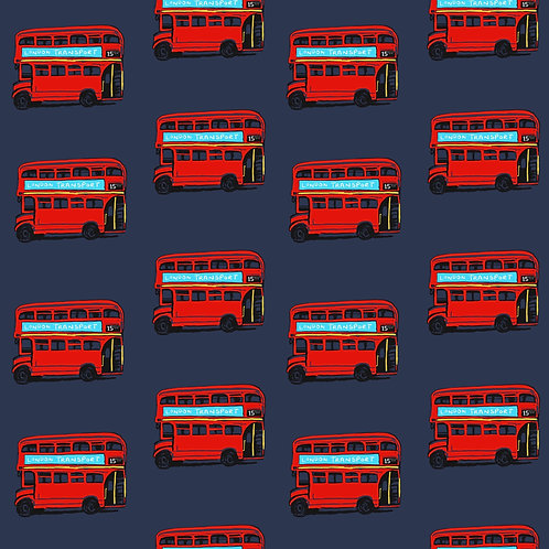 Bubble Romper - Navy London Buses