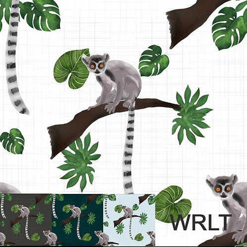 Bubble Romper - Leaping Lemurs