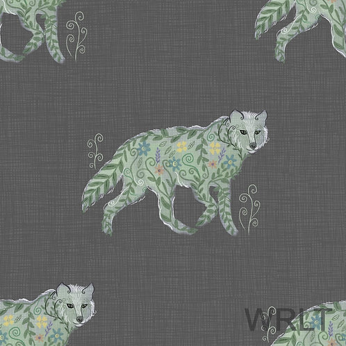 Jasmine Jumpsuit - Wild Wolves - Dark Grey