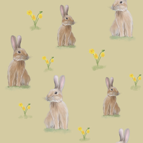 Pinafore Dress - Spring Bunnies