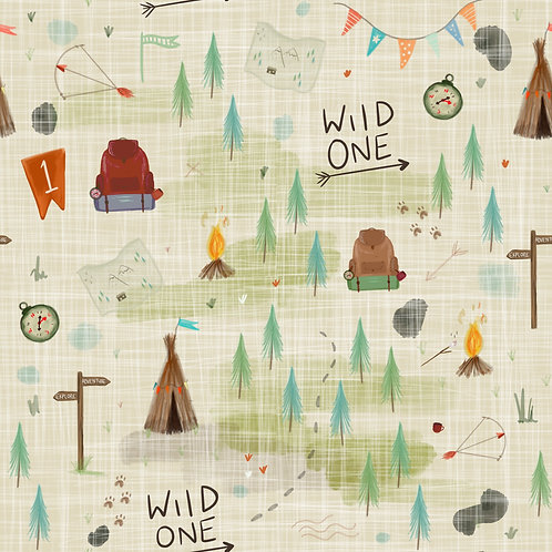 Pinafore Dress - Wild One Birthday Print