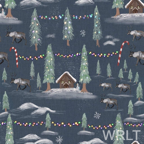 Leggings - Winter Cabins