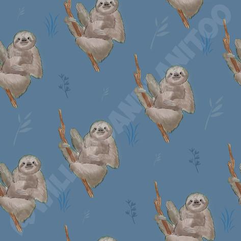 Sloths Blue