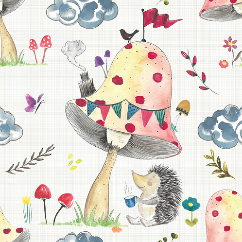 Short Leg Romper - Hedgehog Tea Party