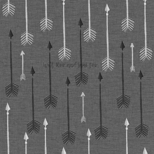 Bummie Romper - Charcoal Arrows