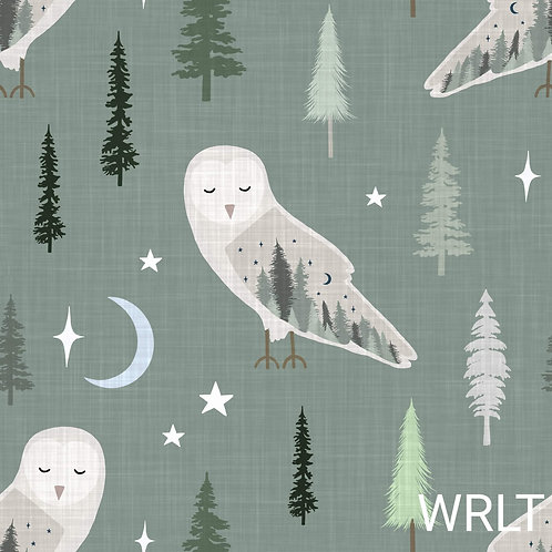 Long Leg Romper - Forest Owls