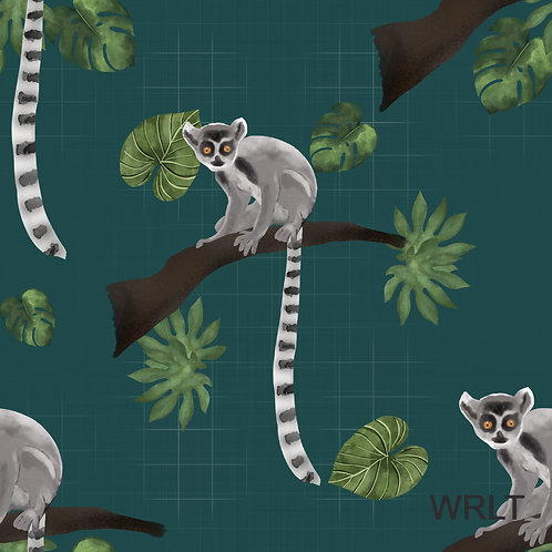 Long Sleeve Lounge Top - Leaping Lemurs