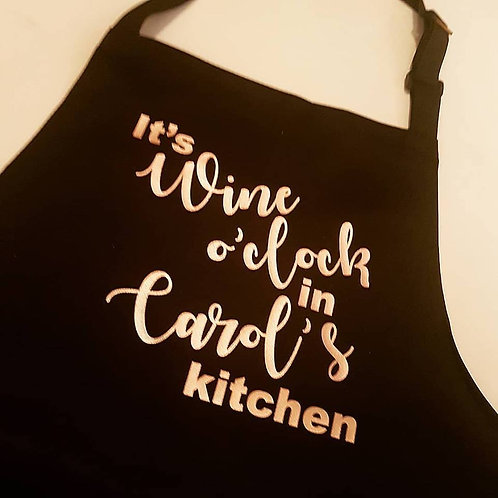 It's Wine O'Clock Kitchen Apron