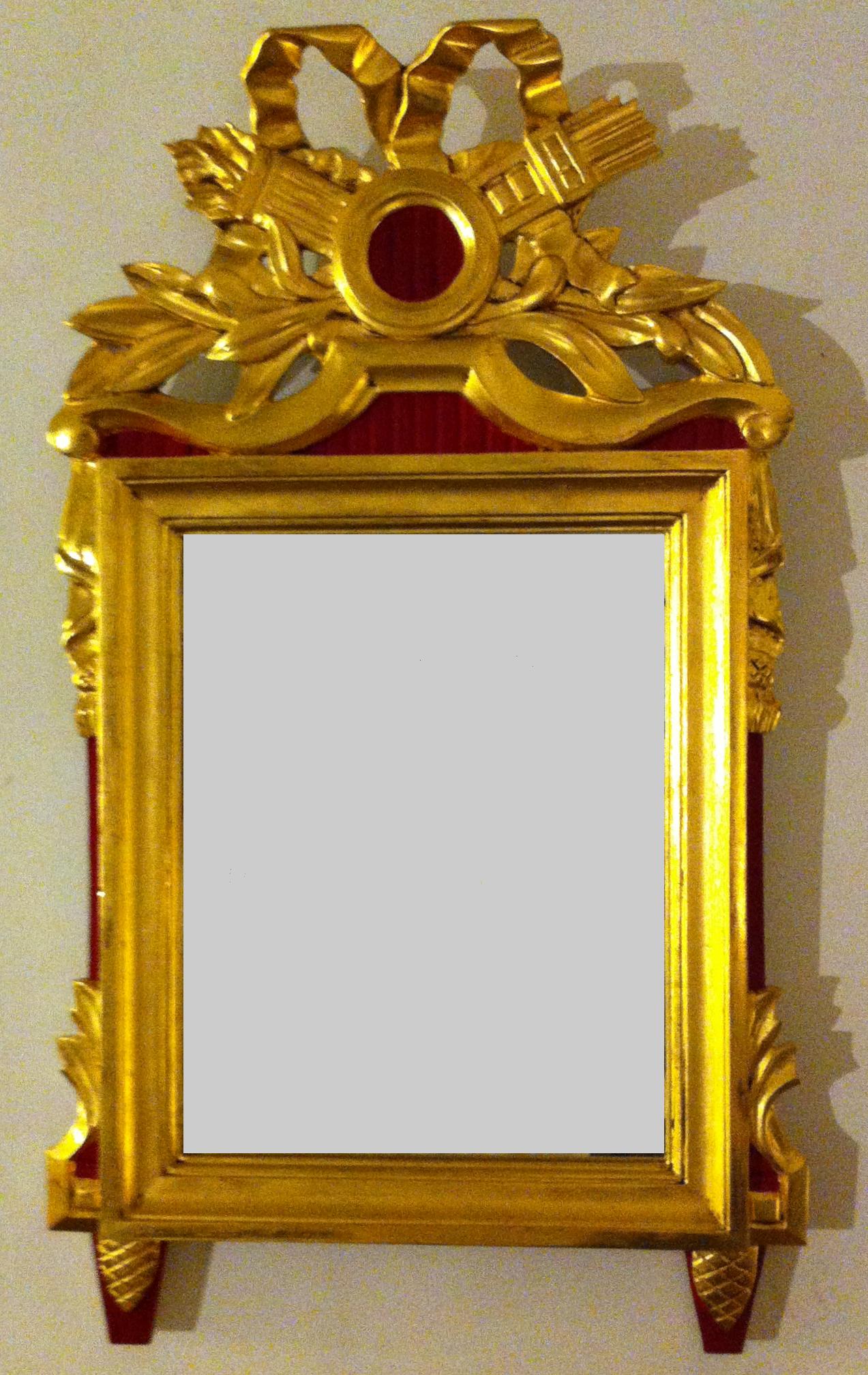 Fabrication d'un miroir Louis XVI