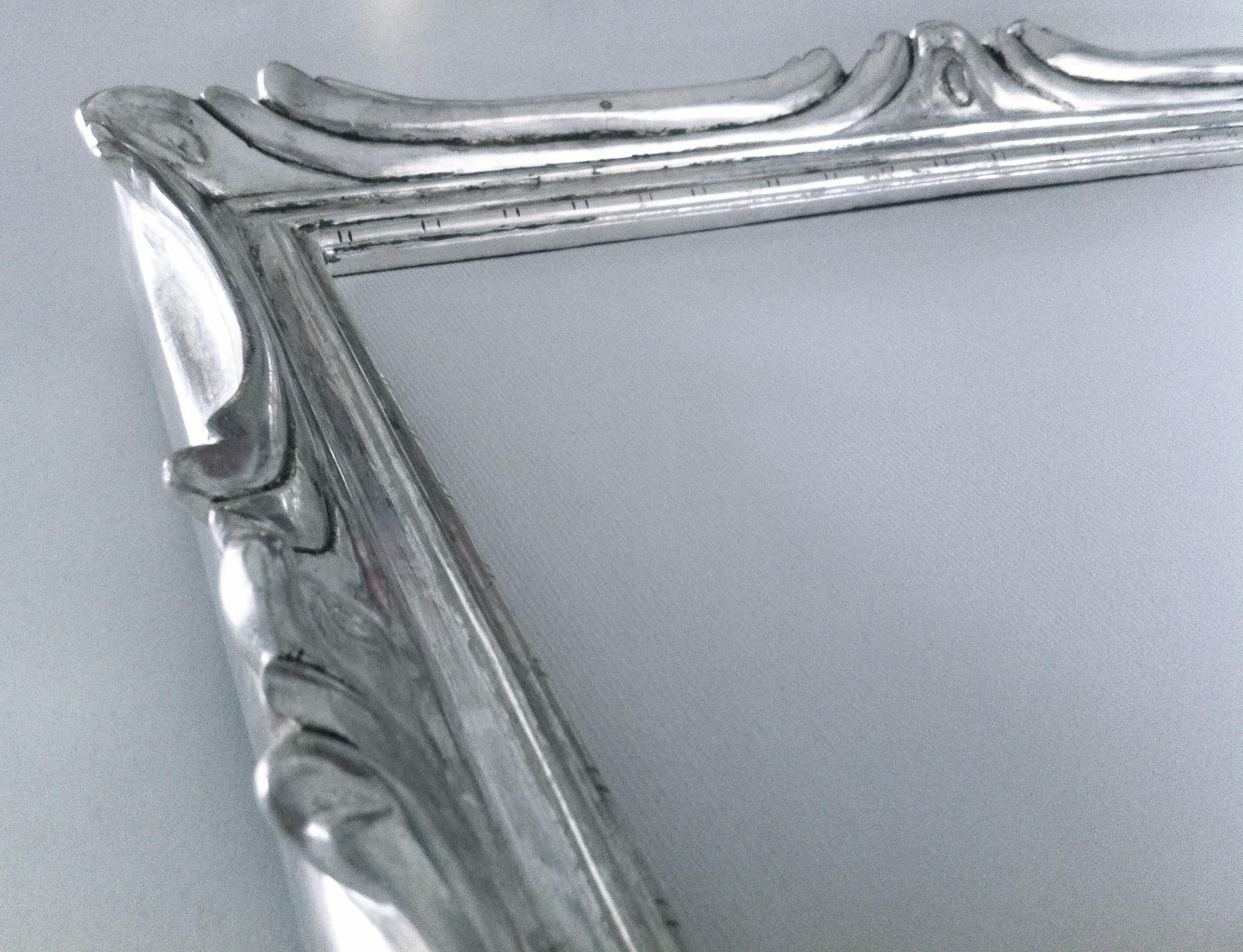 Restauration miroir dorure argent