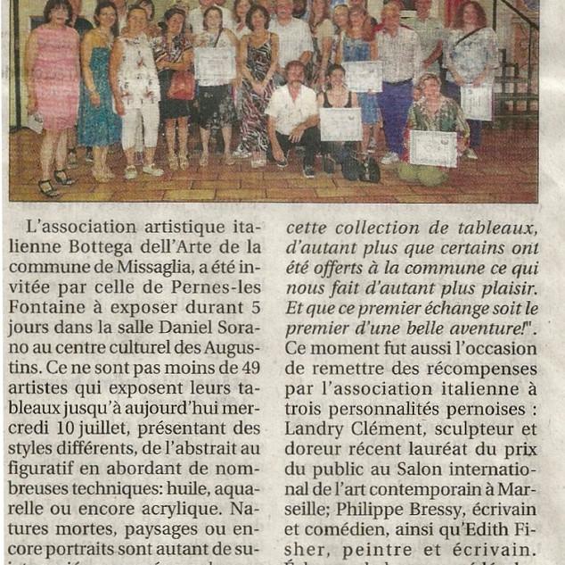 La Provence 9 juillet 2019