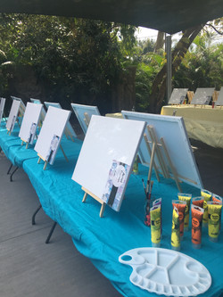 Paint and Sip Set up 2