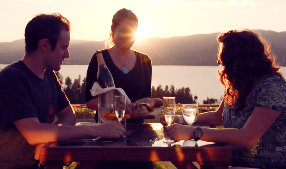 Couple having dinner at Kelowna Winery.j