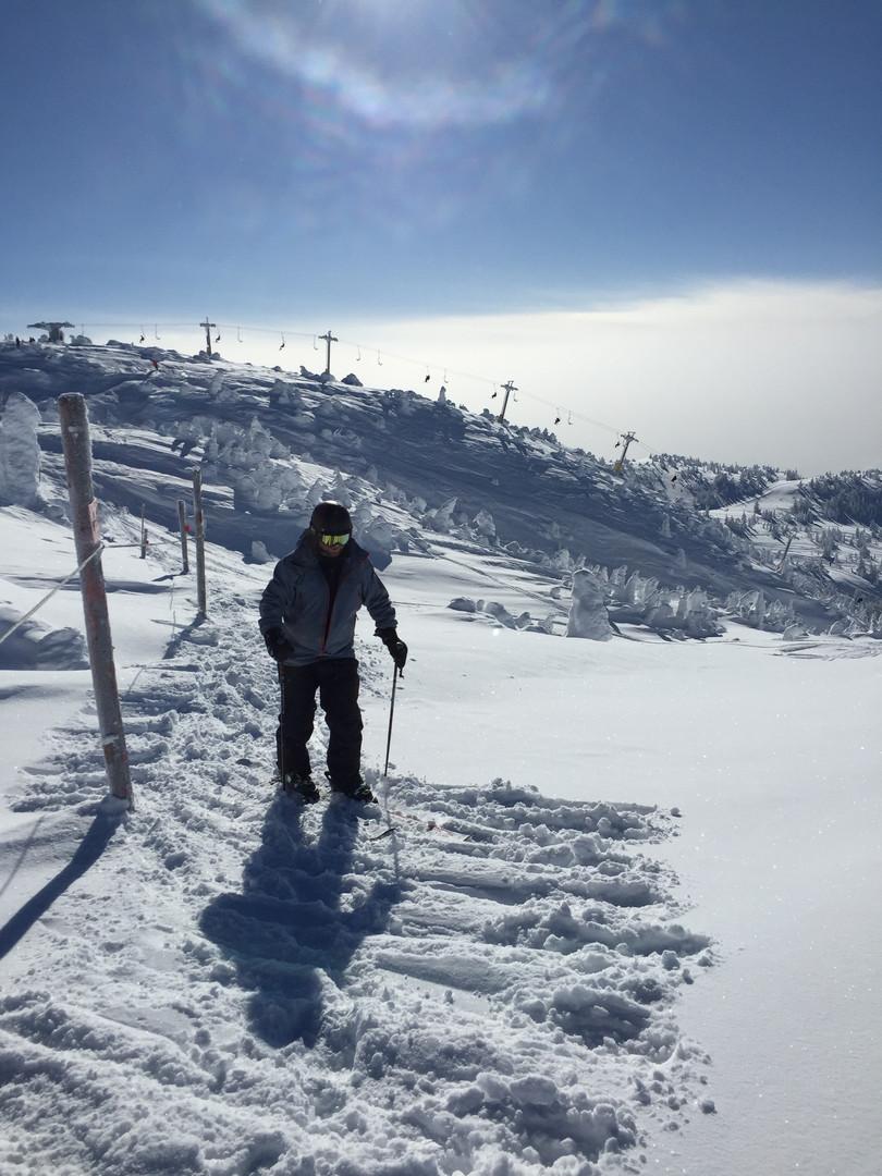 Man at Big White Ski Resort
