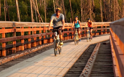 Friends Biking Kettle Valley Railway