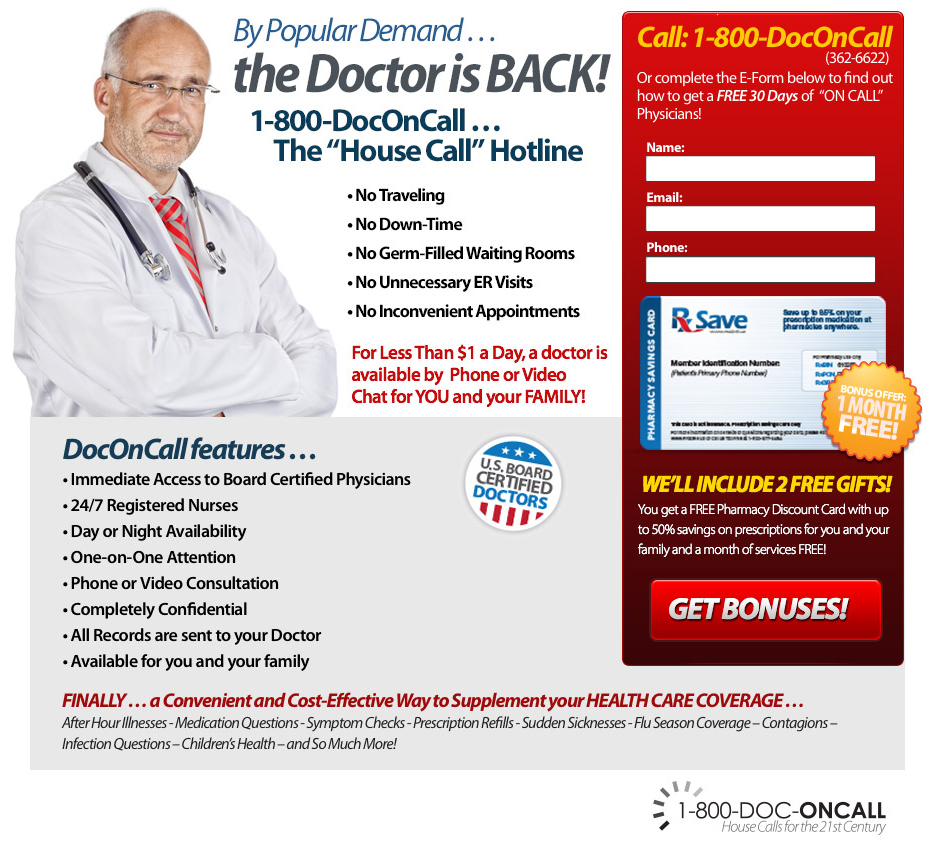 Doc On Call Landing Page