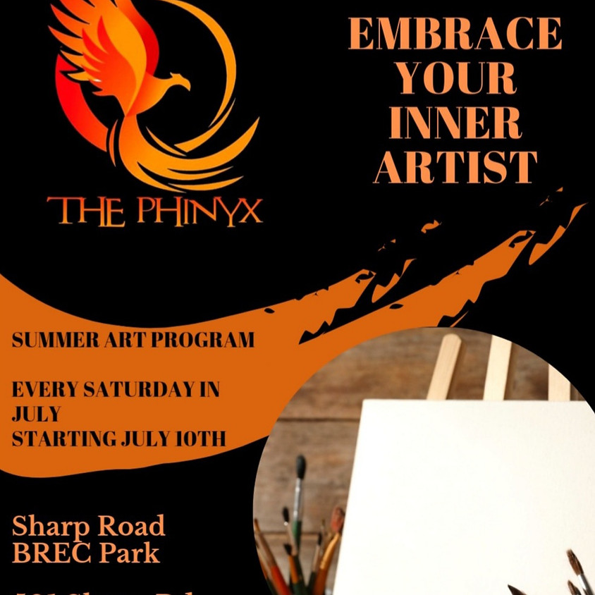 The Phinyx Presents: Embrace Your Inner Artist (Summer Art Program) Ages 7 & Up