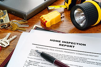 Real estate home inspection report of re