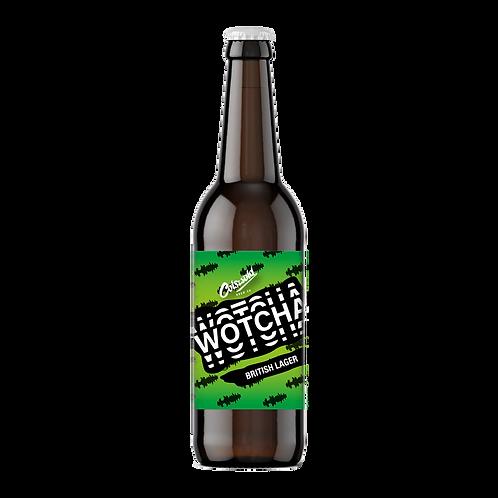 WOTCHA [British Lager] (4.4% ABV)