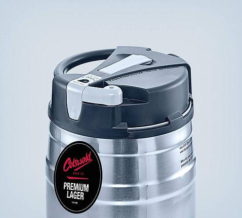 Cotswold Brew Co Pub Pour Premium Lager Minikeg