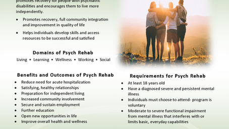 CGC Psych Rehab Open for Referrals