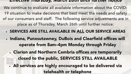 Community Guidance Center COVID-19 (coronavirus) Update, 3-26-2020
