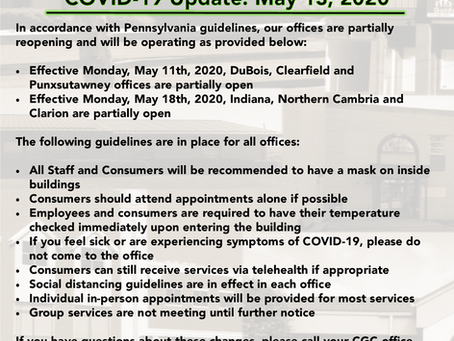 CGC Partial Reopening Update 5-13-2020