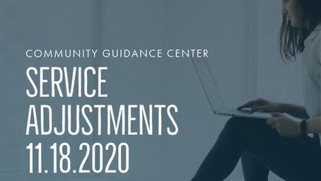 COVID-19 Service Adjustments 11/18/2020