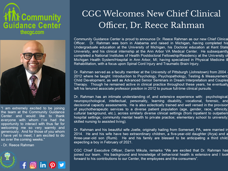 CGC Welcomes New Chief Clinical Officer, Dr. Reece Rahman