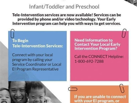 Early Intervention Services Available During COVID-19