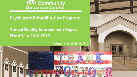 CGC Annual Psych Rehab QI Report Available