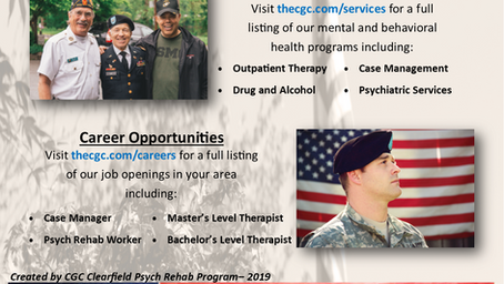 CGC to Attend Clearfield Veterans Expo
