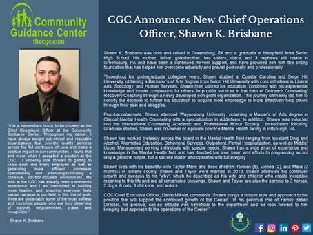 CGC Announces New Chief Operations Officer