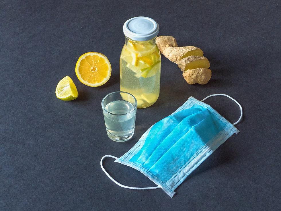 Lemon ginger with facemask.jpg