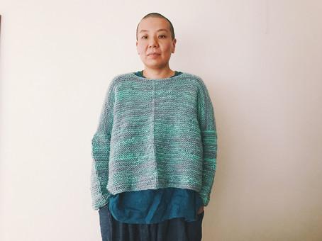 每天セーター完成しました!