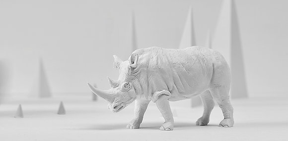 Rhino paperweight