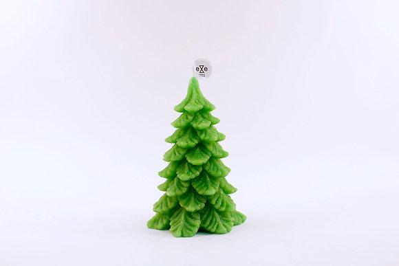Pine tree candle (Jade)